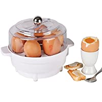 Electric Egg Cooker, Boiler & Poacher with Built-in Alarm