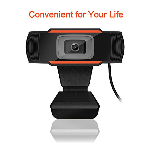 Usb Webcam, Cimkiz A870 Plug and Play Web Camera with Microphone for Video Calling and Recording for PC Desktop Laptop Mac