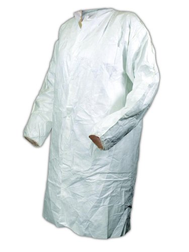 Magid CC1114XXL EconoWear Tyvek Disposable Lab Coat, 2XL, White  (Case of 50)
