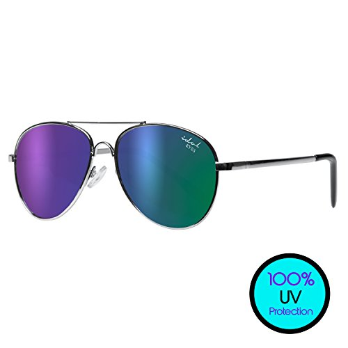 Kids Aviator Sunglasses for Children in Gold/Silver Metal Frame - Idol Eyes - In Girls Sunglasses