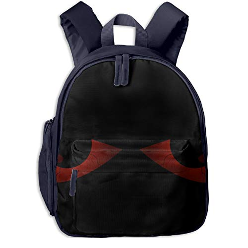 Evil Scary Eyes Halloween Pattern Double Zipper Waterproof Children Schoolbag With Front Pockets For Kids Boys Girl ()