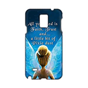 3D Case Cover Thiker Bell Cartoon Phone Case for Samsung Galaxy Note4