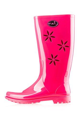 Women's Boots MEI Rubber Women's Rubber Boots Pink MEI MEI Women's Rubber Pink ggpSqw48