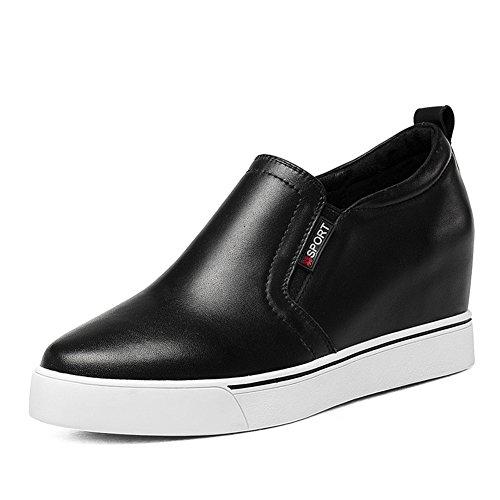 Punta alta de fondo grueso de salvaje zapato blanco/ zapatos de cuñas de plataforma A