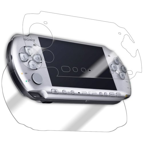 IQ Shield LiQuidSkin Full Body Skin + Full Coverage Screen Protector for Sony PSP 3000 HD Clear Anti-Bubble Film [Video Game] ()