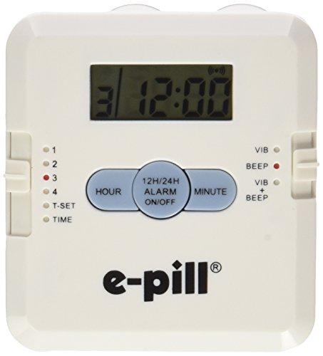 Pill Box With Alarm (4 Alarm Pill Box Organizer with Vibration Reminder)