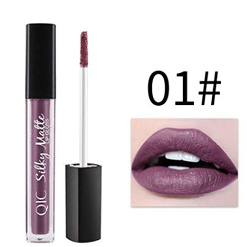 CoCocina Matte Liquid Lip Gloss Waterproof Velvet Kiss Proof Long Lasting Lips Women Purple Halloween - 01