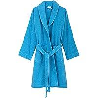 towelselections Robe, algodón turco Mujer a corto Terry Albornoz, fabricado en Turquía