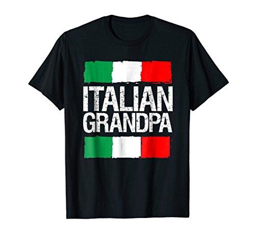 Proud Italian Shirt-Italian Grandpa Pride Flag T-shirt