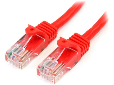 StarTech 45PATCH25RD 25FT RED SNAGLESS CAT5E UTP PATCH CABLE