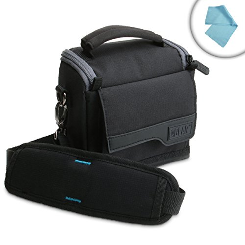 USA GEAR Carrying Case for Trifield 100XE , Lutron EMF-822A , Cell Sensor and Other Compact EMF Meters - with Adjustable Shoulder Strap , Accessory Pouches , Customizable Dividers , Reinforced Zippers by USA Gear