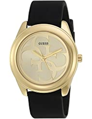 GUESS Womens Stainless Steel Silicone Casual Watch, Color: Black (Model: U0911L3)