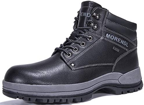 MORENDL Mens All Weather Premium Water-Resistant Outdoor Hiking Mountain Climbing Construction Performance Comfortable Soft Toe Work Boots