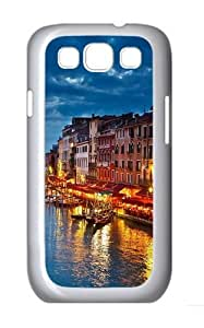 Water City Of Venice Italy Custom Hard Back Case Samsung Galaxy S3 SIII I9300 Case Cover - Polycarbonate - White