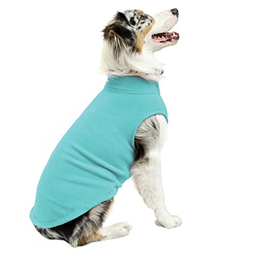 Gooby Stretch Fleece Pull Over Cold Weather Dog Vest, Mint, (Gooby Dog Clothes)
