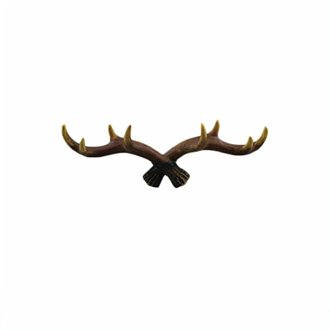 Amazon.com: langugu clásico Deer Antlers pared ganchos para ...