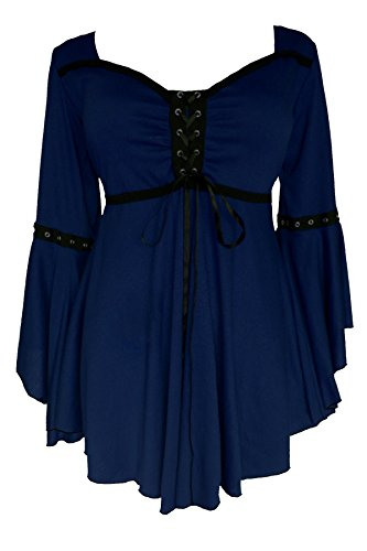 Dare to Wear Victorian Gothic Boho Women's Plus Size Ophelia Corset Top Midnight 3x