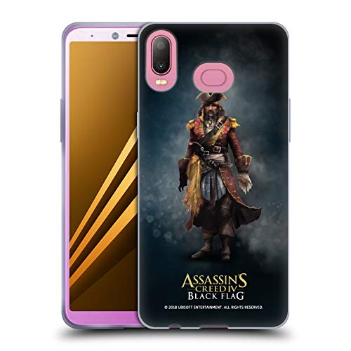 Official Assassin's Creed Bartholomew Roberts Black Flag Characters Soft Gel Case for Samsung Galaxy A6s (2018)