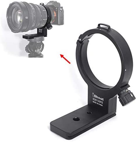 Tripod Mount Ring iShoot Camera Lens Collar Support for Sony FE PZ 28-135mm f//4 G OSS Lens SELP28135G Built-in Quick Release Plate Compatible with Tripod Ball Head of Arca-Swiss PMG SUNWAYFOTO Fit