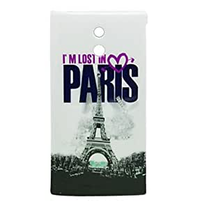 AES - Eiffel Tower Pattern Hard Case for Sony LT22i Xperia P