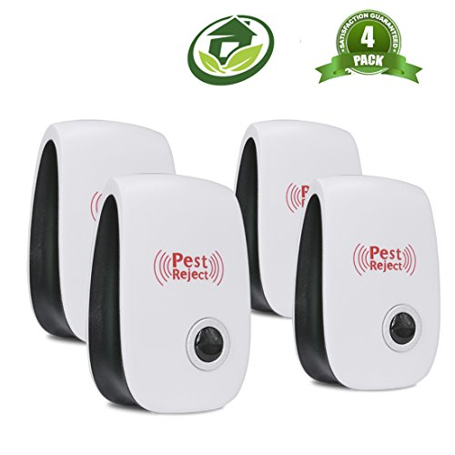 USCVIS Pest Repeller, 4 Pack Ultrasonic Repellent Pet Safety Electronic Plugs Insects Indoor Pest Control Repels Mice, Mosquitoes, Roaches, Spiders and other Insects