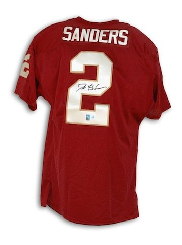huge selection of 9c874 9db20 Florida State Seminoles Autographed Deion Sanders Jersey ...