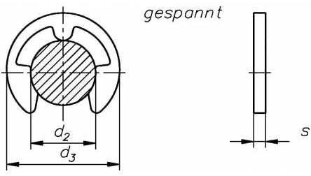 X39CrMo17-1; GX35CrMo17 blank 100 St/ück Reidl Sicherungsscheiben f/ür Wellen 7 mm Au/ßendurchmesser 14,3 DIN 6799 1.4122