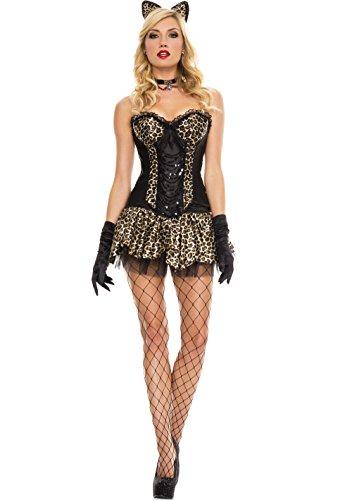 (MUSIC LEGS Women's Luscious Leopard, Brown, Small/Medium )