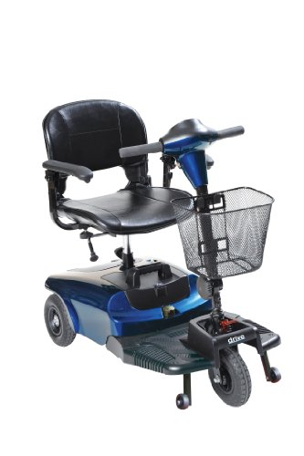 3 Wheel Compact Mobility Scooter (Drive Medical Bobcat 3 Wheel Compact Scooter, Blue)
