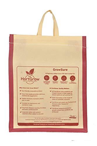 GrowSure - Coco Coir/Coco Peat/Coco Fiber | Potting Mix | Potting Soil | 11 lbs Block expands to 2.5 Cubic Foot (Best Commercial Potting Soil)
