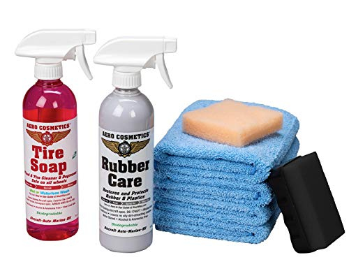 Aero Cosmetics Tire Care Kit, Aircraft Quality Products for Your Car, RV and Motorcycle