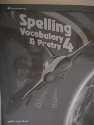 Spelling Vocabulary and Poetry 4th grade...A BEKA (Teacher's, used for sale  Delivered anywhere in USA