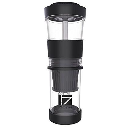 Zone - 365 Cafetera portátil de café, servir solo polvo cápsula mano prensa máquina de