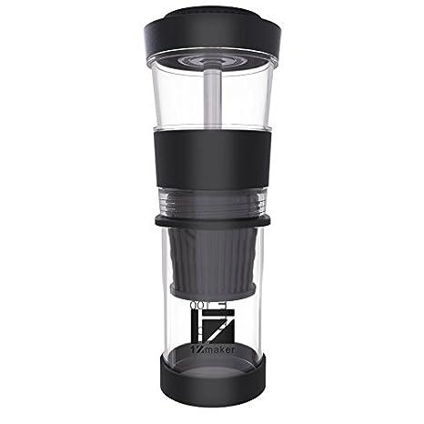Zone - 365 Cafetera portátil de café, servir solo polvo cápsula mano prensa máquina de café para el hogar y uso al aire libre. 1ZMaker: Amazon.es: Hogar