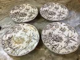 Ciroa Luxe Gold Floral & Birds Appetizer Plates 6