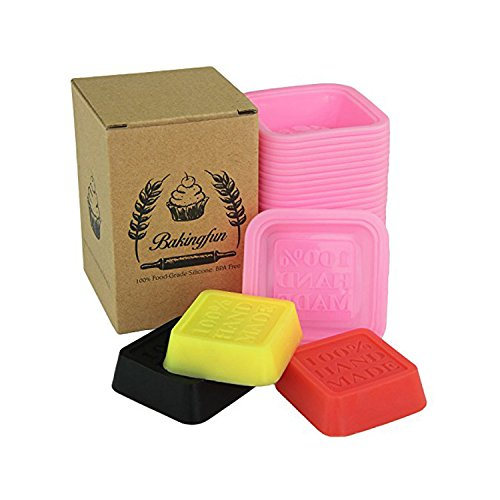 24-pack Reusable Silicone Handmade Soap Mold / Baking Mold