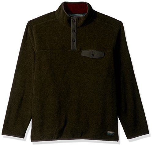 G.H. Bass & Co. Men's Explorer Full Zip Fleece, Forest Night, X-Large