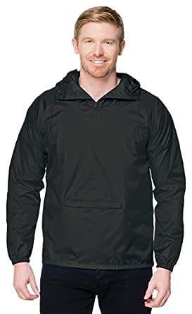 Tri-Mountain J1005 Mens 100% Nylon Zipped Pullover Hooded - Black - S