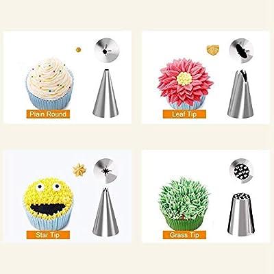 OOOUSE Kit de Suministros para decoración de Pasteles, 52 Piezas ...