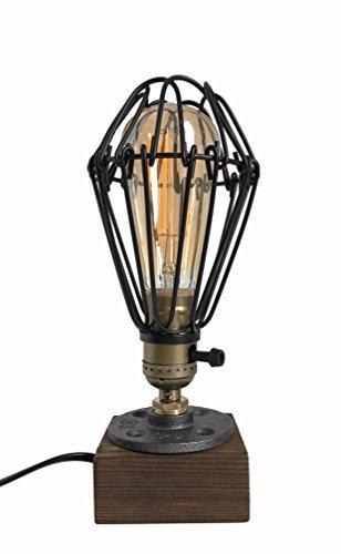 icase4u Industrial Antigua Edison Bombilla Lámpara Loft Vintage Retro Lampara de mesa Regulable Lámpara luz de Noche luces con Hierro Decoración E27