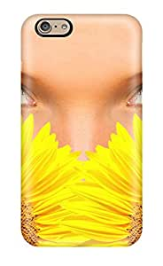 Minnie R. Brungardt's Shop Lovers Gifts 9728666K47915210 For Iphone Case, High Quality Sunflowers And Green Eyes Women Face People Women For Iphone 6 Cover Cases