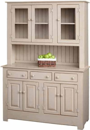 Pine Wood Farmhouse Hutch (White)