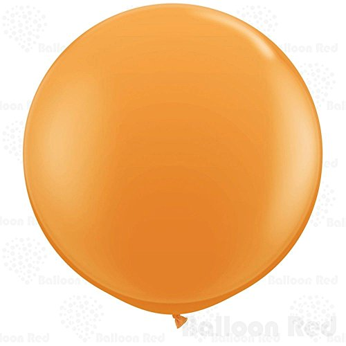 36 Inch Giant Jumbo Latex Balloons (Premium Helium Quality), Pack of 3, Round Shape - Orange (Easy Homemade Costumes For Adults)