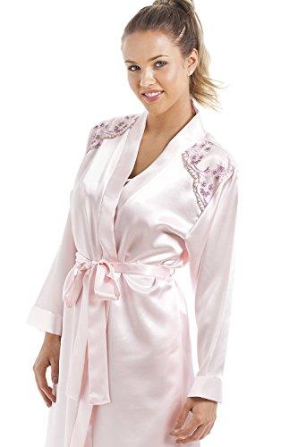 babydoll Completo deluxe Rosa Camille raso e in vestaglia rosa nB1EUxR