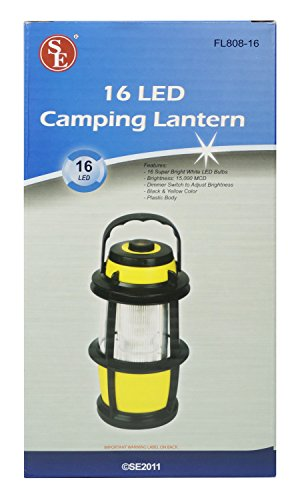 SE 16-LED Camping Lantern with Dimmer Switch - FL808-16