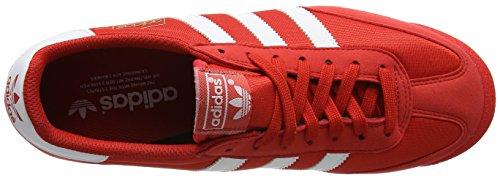 Adidas Originali Mens Dragon-w Retrò Sneaker Rosso