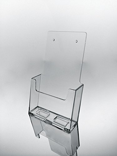Marketing Holders Brochure Holder Wall Mount Angled Trifold Holds 4x9 Literature Acrylic Clear Lot of 25