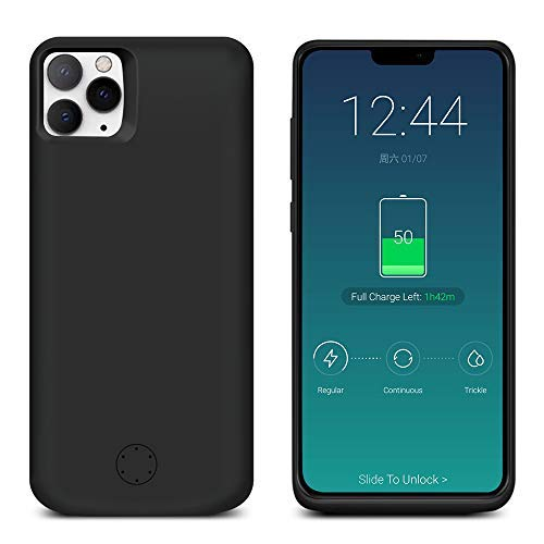 LifeePro for iPhone 11 Pro Max 6.5 inch Battery Case, 6000mAh External Rechargeable Portable Power Bank Slim Extended Backup Charging Protective Shockproof Shell for iPhone 11 Pro Max 6.5