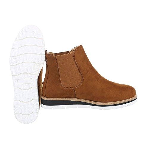 Schuhcity24 Damen Schuhe Stiefeletten Boots Camel