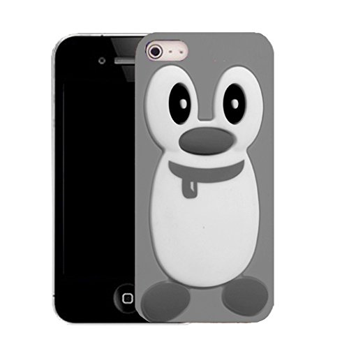 """Mobile Case Mate iPhone 6 Plus 5.5"""" clip on Silicone Coque couverture case cover Pare-chocs + STYLET - shaded penguin pattern (SILICON)"""